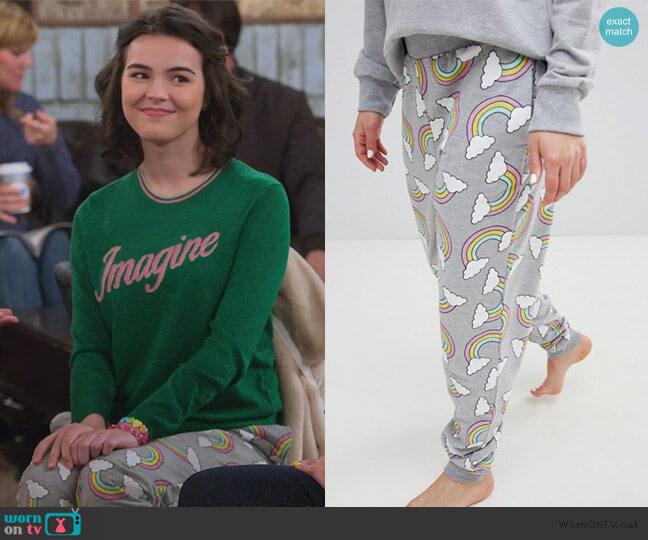 Over It Rainbow Print Jogger by ASOS worn by Hannah (Merit Leighton) on Alexa & Katie