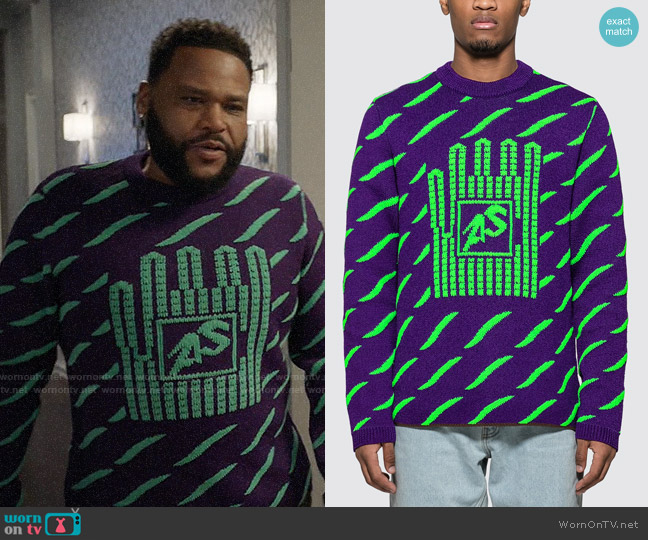 Acne Studios Jacquard Crewneck Sweater worn by Andre Johnson (Anthony Anderson) on Blackish