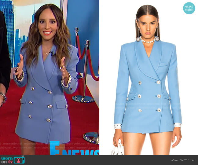 Double Breasted Blazer by Alessandra Rich worn by Lilliana Vazquez  on E! News