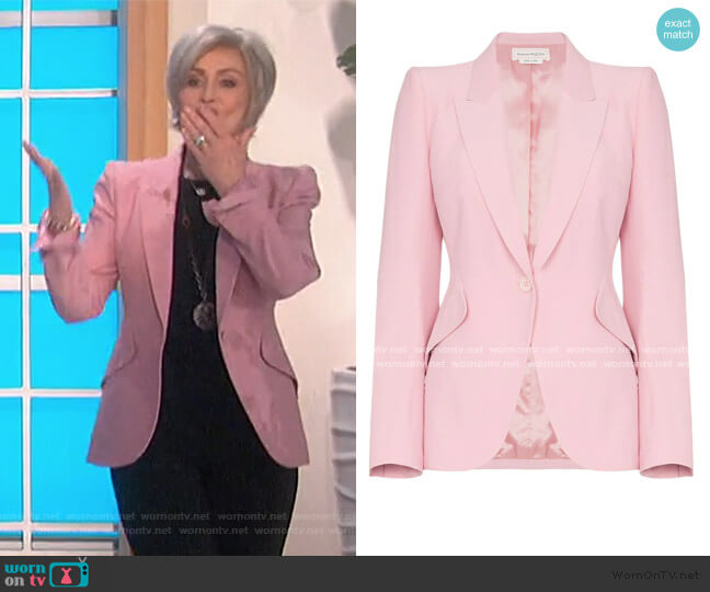 One-Button Jacket by Alexander McQueen worn by Sharon Osbourne  on The Talk