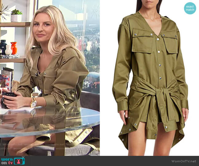 Tie-Front Cargo Cotton Trench Romper by Alexander Wang worn by Morgan Stewart  on E! News