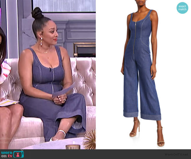 Bristol Chambray Flared Jumpsuit by Alexis worn by Tamera Mowry  on The Real