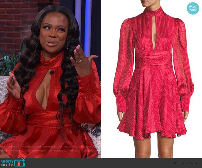 Hadiza Printed Silk Mini Dress by Alexis worn by Kandi Burruss on The Kelly Clarkson Show worn by Kelly Clarkson  on The Kelly Clarkson Show