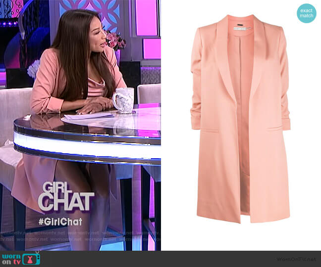 Angela tailored coat by Alice + Olivia worn by Jeannie Mai  on The Real