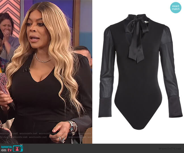 Cabella Bodysuit by Alice + Olivia worn by Wendy Williams  on The Wendy Williams Show
