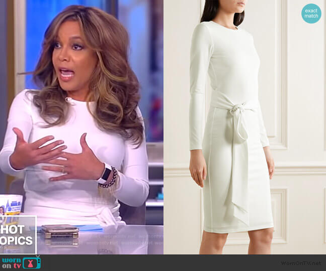 Delora Stretch-crepe Dress by Alice + Olivia worn by Sunny Hostin  on The View