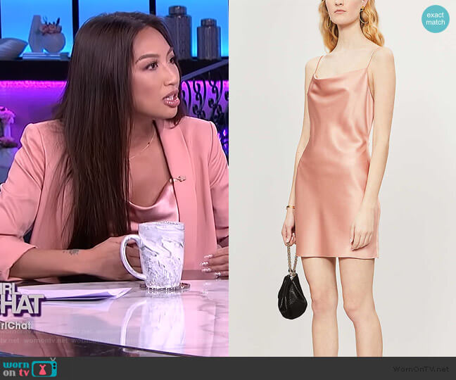 Harmony Satin Mini Dress by Alice + Olivia worn by Jeannie Mai  on The Real