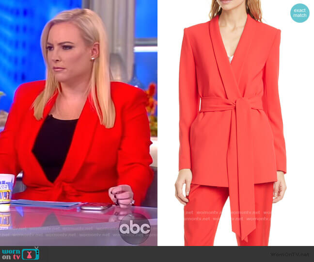 Denny Belted Blazer and Ardell Pants by Alice + Olivia worn by Meghan McCain  on The View