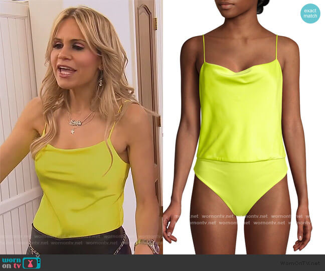 Harmon Bodysuit by Alice + Olivia worn by Jackie Goldschneider  on The Real Housewives of New Jersey