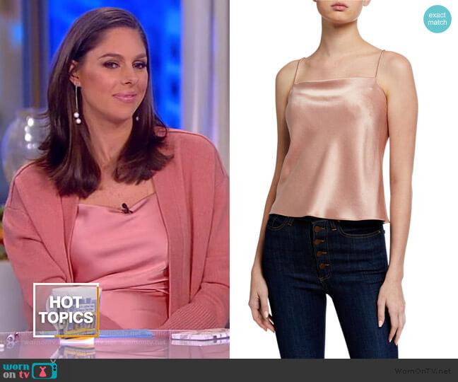 Harmon Drapey Satin Slip Tank by Alice + Olivia worn by Abby Huntsman  on The View