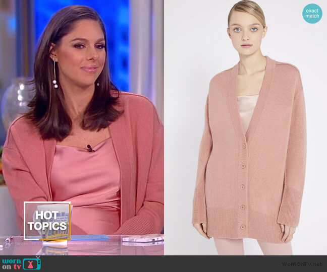 Louie V-neck Oversized Cardigan by Alice + Olivia worn by Abby Huntsman  on The View