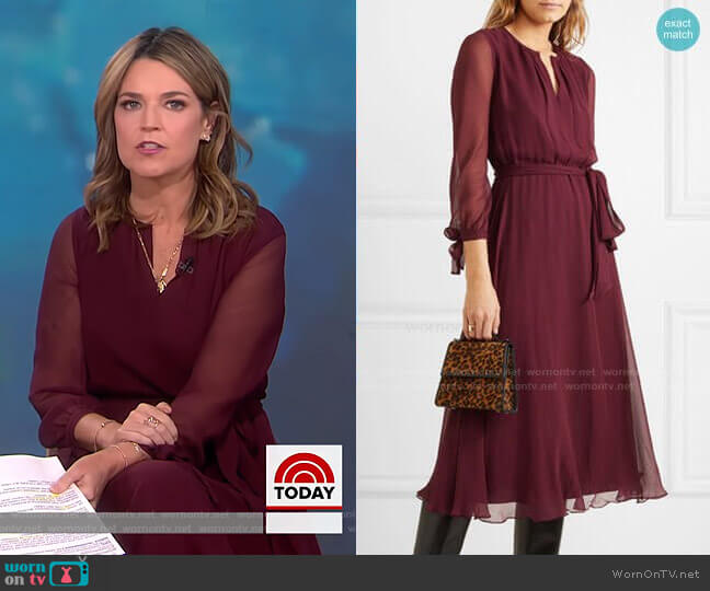Amanda Belted Midi Dress by ARoss Girl x Soler worn by Savannah Guthrie  on Today