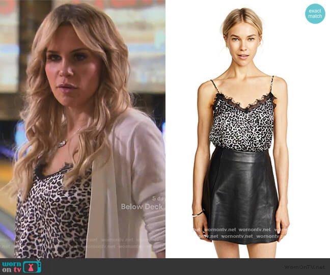 Leopard Silk Cami by Anine Bing worn by Jackie Goldschneider  on The Real Housewives of New Jersey