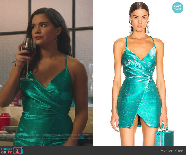 Wrap Effect Dress by Area worn by Jane Sloan (Katie Stevens) on The Bold Type