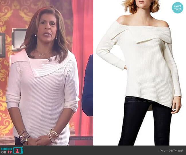 Asymmetric Off-the-Shoulder Sweater by Karen Millen worn by Hoda Kotb  on Today