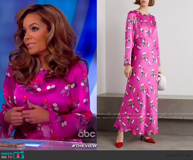Jane floral-print silk-satin maxi dress by Bernadette worn by Sunny Hostin  on The View