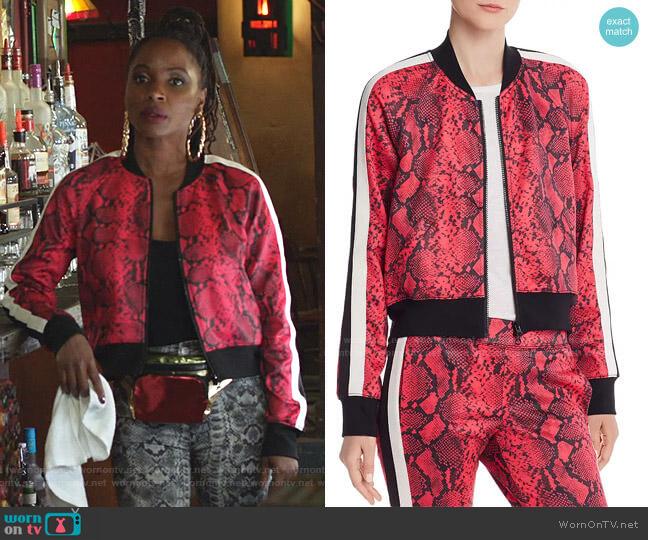 Baby Boa Cropped Track Jacket by Pam & Gela worn by Veronica Fisher (Shanola Hampton) on Shameless