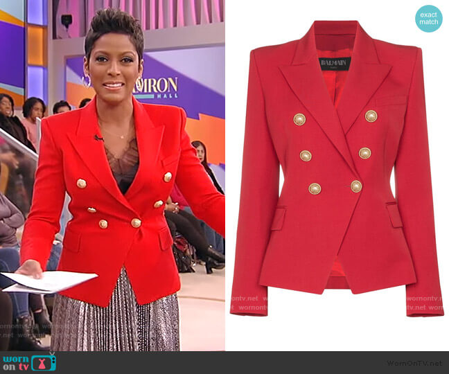 Double Breasted Blazer by Balmain worn by Tamron Hall  on Tamron Hall Show