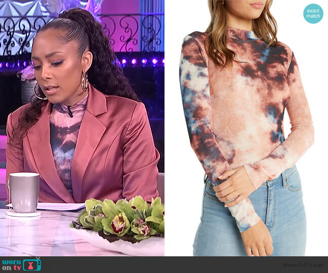Tie Dye Mesh Top by Bardot worn by Amanda Seales  on The Real