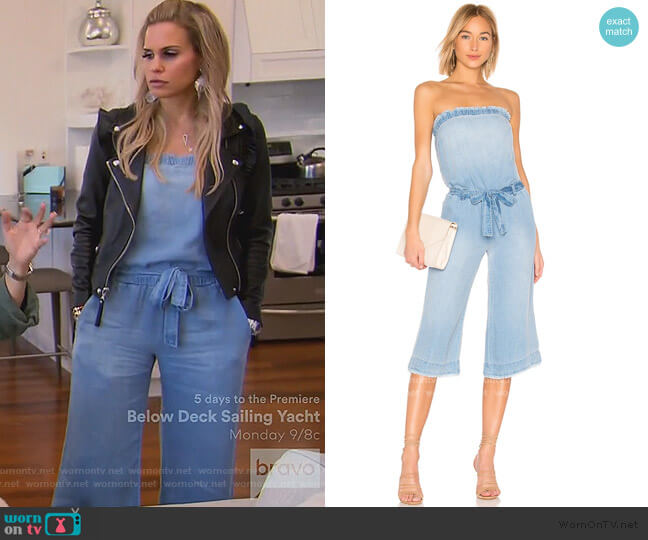 Strapless Chambray Jumpsuit by Bella Dahl worn by Jackie Goldschneider  on The Real Housewives of New Jersey