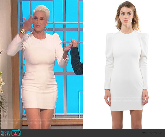 Hadley Mini Dress by Black Halo worn by Brigitte Nielsen on The Talk