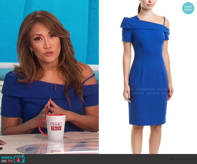 Stiles Sheath Dress by Black Halo worn by Carrie Inaba  on The Talk