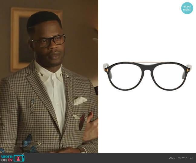 Pilot Shape Glasses by Tom Ford worn by Jeff Colby (Sam Adegoke) on Dynasty