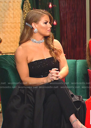 Brandi's sequin strapless gown on The Real Housewives of Dallas