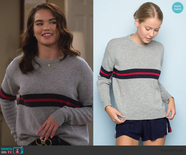 Bernadette Sweater by Brandy Melville worn by Alexa Mendoza (Paris Berelc) on Alexa & Katie