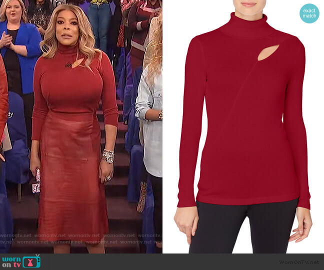 Dessie Cutout Turtleneck Sweater by Catherine Catherine Malandrino worn by Wendy Williams  on The Wendy Williams Show