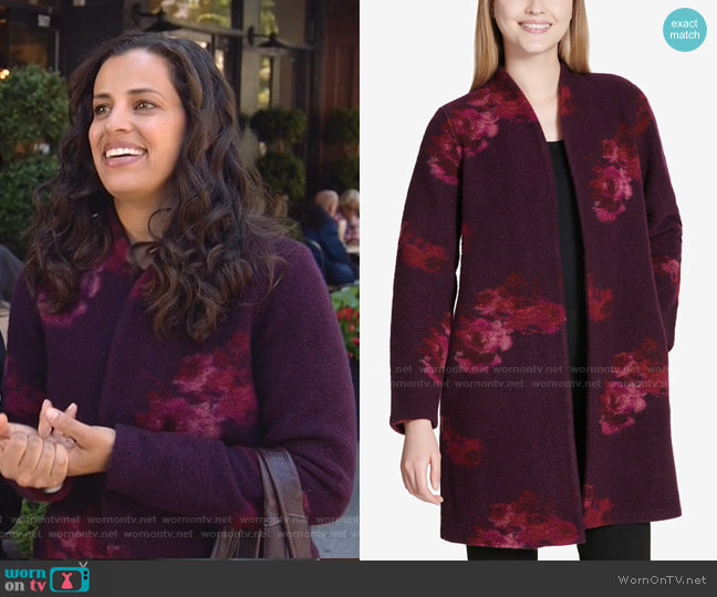 Floral Print Cardigan by Calvin Klein worn by Grace Stone (Athena Karkanis) on Manifest