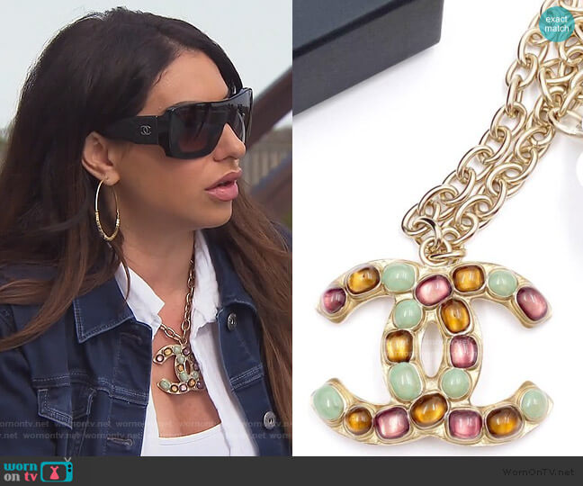 CC large Necklace by Chanel worn by Jennifer Aydin  on The Real Housewives of New Jersey