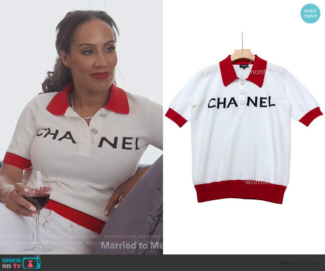 Polo Top by Chanel worn by Tanya Sam on The Real Housewives of Atlanta