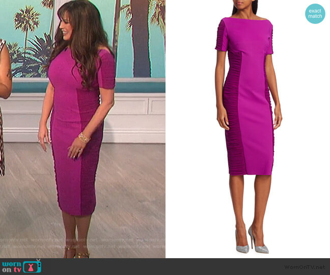 Dary Illusion Sheath Dress by Chiara Boni La Petite worn by Marie Osmond  on The Talk