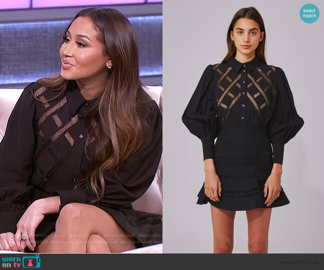 Worthy Shirt and Skirt by C/Meo Collective worn by Adrienne Houghton  on The Real