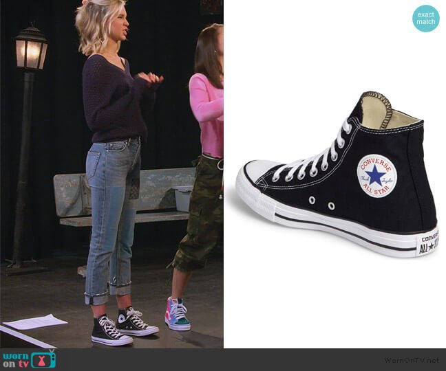 Chuck Taylor High Top Sneakers by Converse worn by Katie Cooper (Isabel May) on Alexa & Katie