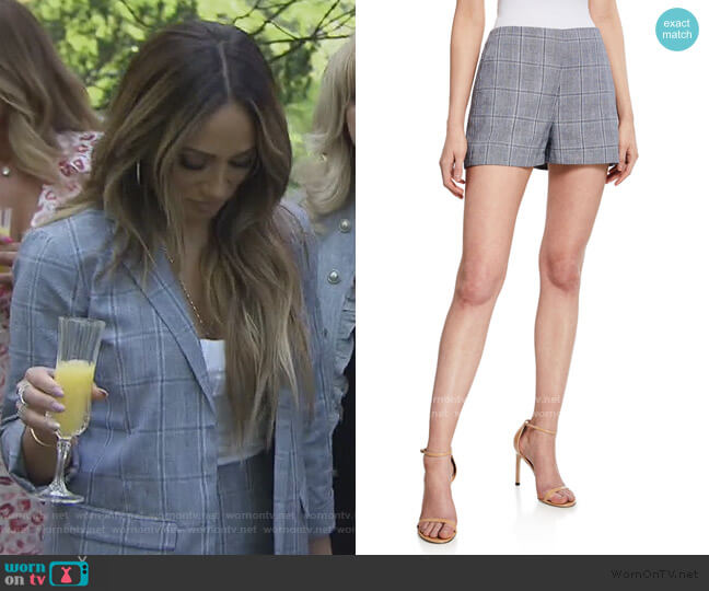 Vinson Plaid Shorts by Cupcakes and Cashmere worn by Melissa Gorga  on The Real Housewives of New Jersey