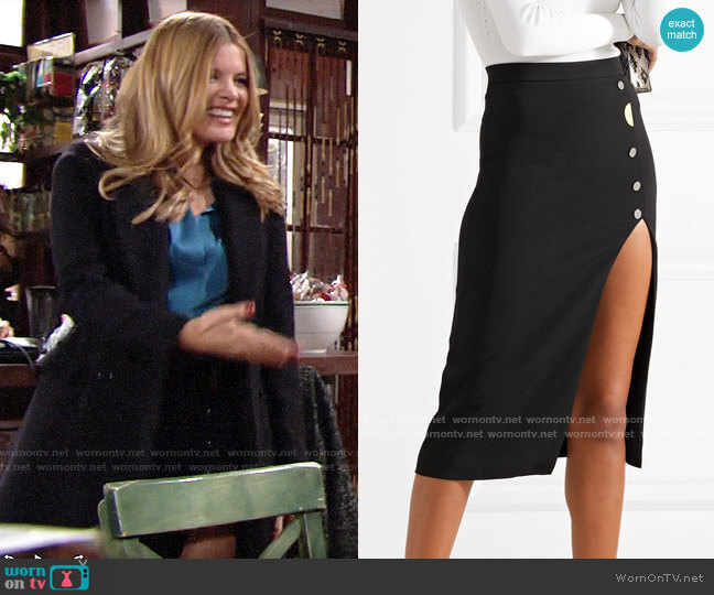 Cushnie et Ochs Dahlia Skirt worn by Phyllis Summers (Michelle Stafford) on The Young & the Restless