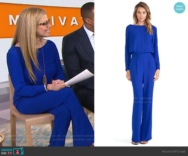 Cynthia Jumpsuit by Diane Von Furstenberg worn by Jill Martin  on Today