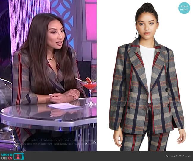 Danielle Split Sleeve Blazer by ei8htdreams worn by Jeannie Mai  on The Real