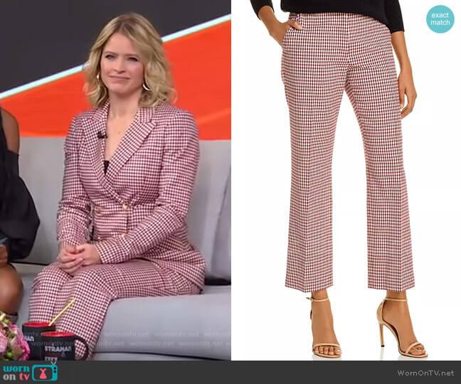 Galen Gingham Pants by Derek Lam 10 Crosby worn by Sara Haines  on Good Morning America