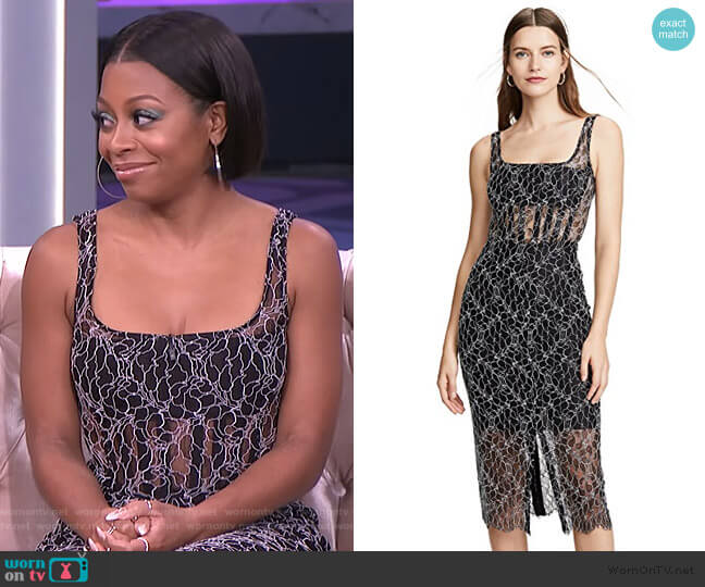 Vein Lace Corset Dress by Dion Lee worn by Bresha Webb on The Real