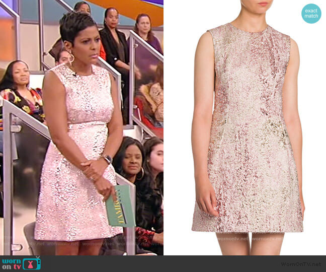 Metallic Cloque Mini Dress by Dolce and Gabbana worn by Tamron Hall  on Tamron Hall Show