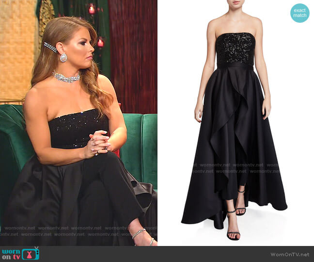 Egan Sequin Jumpsuit & Removable Skirt by Jay Godfrey worn by Brandi Redmond  on The Real Housewives of Dallas