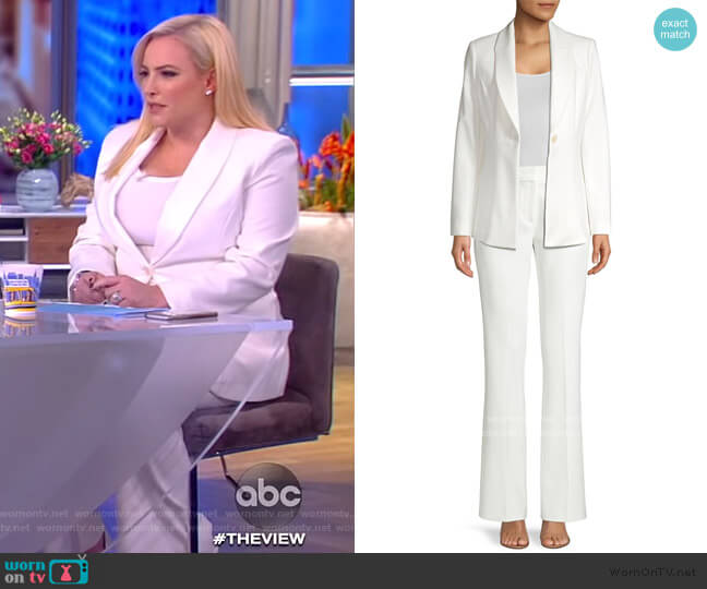 Arya Single-Button Jacket and Anna Flare Pants by Elie Tahari worn by Meghan McCain  on The View
