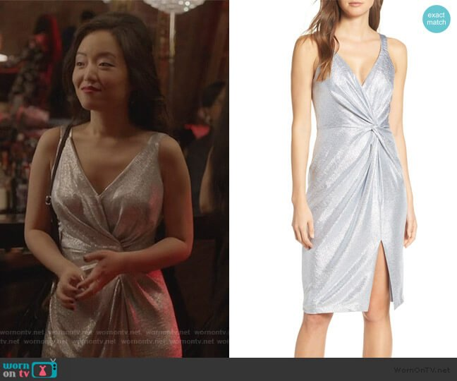Twisted Dress by Eliza J worn by Janet (Andrea Bang) on Kims Convenience