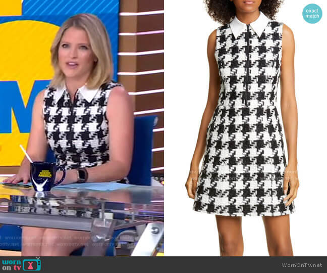 Ellis Zip-Front Dress by Alice + Olivia worn by Sara Haines  on Good Morning America