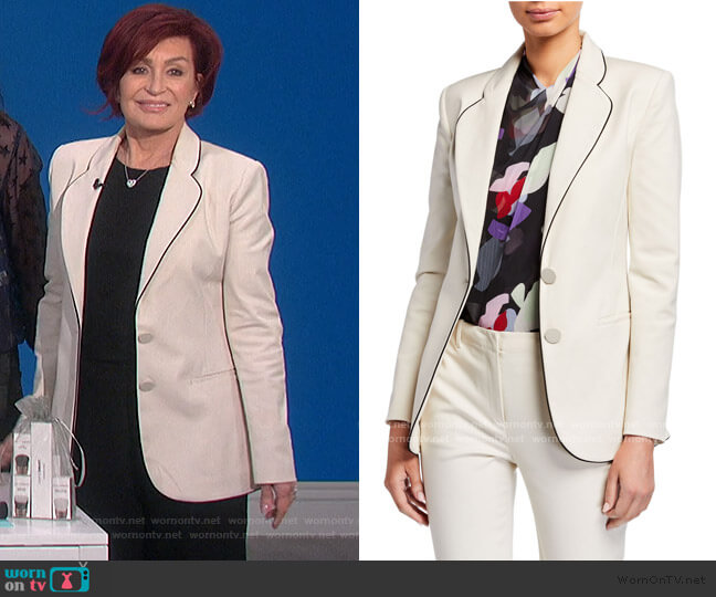 Two-Button Stretch Cotton Jacket by Emporio Armani worn by Sharon Osbourne  on The Talk