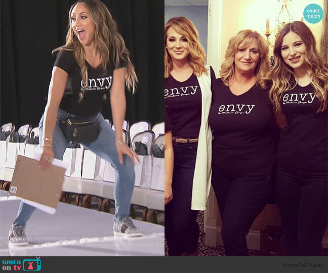 Envy by Melissa Gorga T-shirt by Envy worn by Melissa Gorga  on The Real Housewives of New Jersey