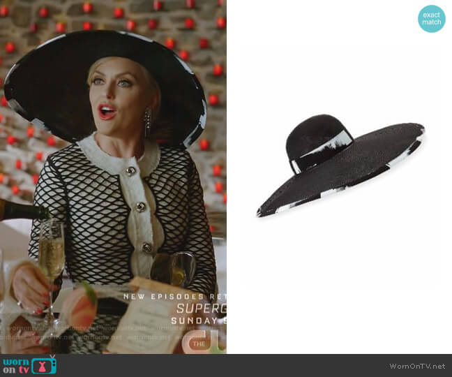 Sydney Straw Hat by Eugenia Kim worn by Alexis Carrington (Elaine Hendrix) on Dynasty